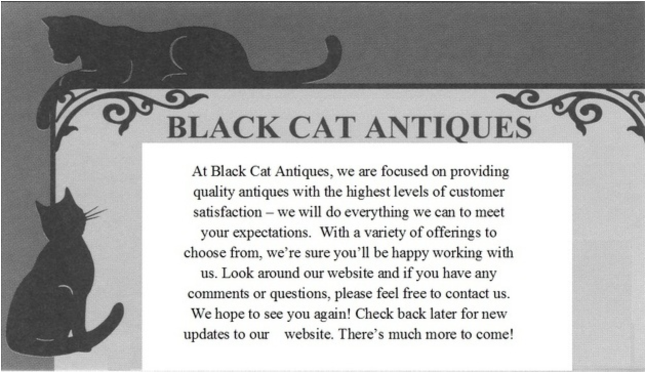 Black Cat Antiques Logo/Photo